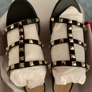 Valentino Rockstud Caged 60mm Sandals